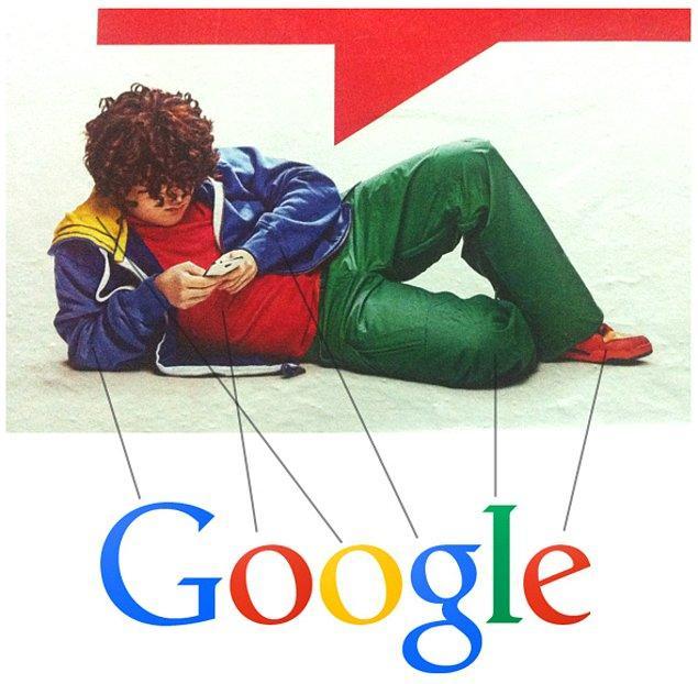 15. Yandex reklamlarındaki kıvırcık aslında Google'dır.