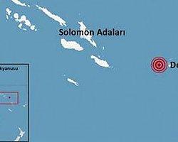 Solomon Adaları Yakınlarında 7.6 Büyüklüğünde Deprem