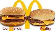 Gerçek hayatta ve reklamlarda McDonald's hamburgerleri !