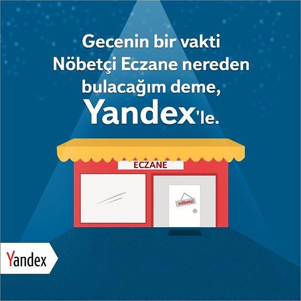 Yandex'in Nöbetçi Eczane Sihirbazı