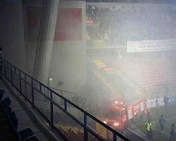 Stadyumda Yangın Çıktı!