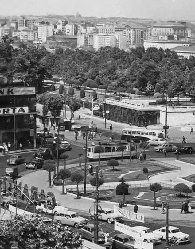 50 li yıllarda Taksim