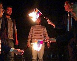 Ermenistan Bayrağı Diye Kolombiya Bayrağı Yaktılar