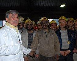 Cumhurbaşkanı Gül'den Madencilere Sürpriz Ziyaret