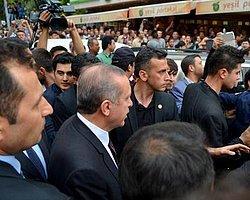 Erdoğan, Soma'da Markete Sığındı