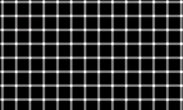 9. Resimde bulunan bütün noktalar beyaz renkte, fakat bazıları siyah renk oluyor