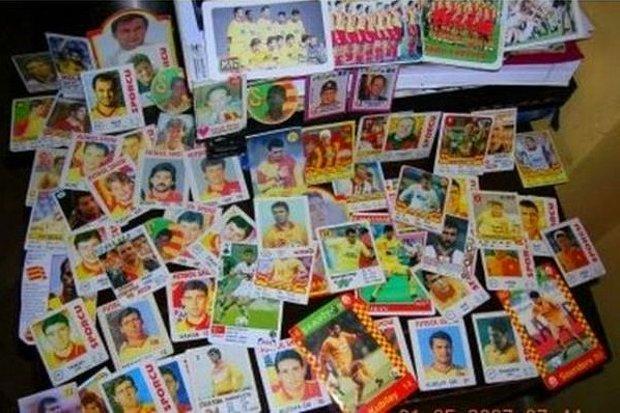 Topladığım futbolcu kartlarıdır.