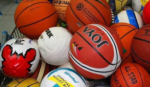 Voleybol, basketbol, tenis ve tüm topla oynanan sporların topları