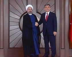 Abdullah Gül ve Ruhani'den Ortak Basın Toplantısı
