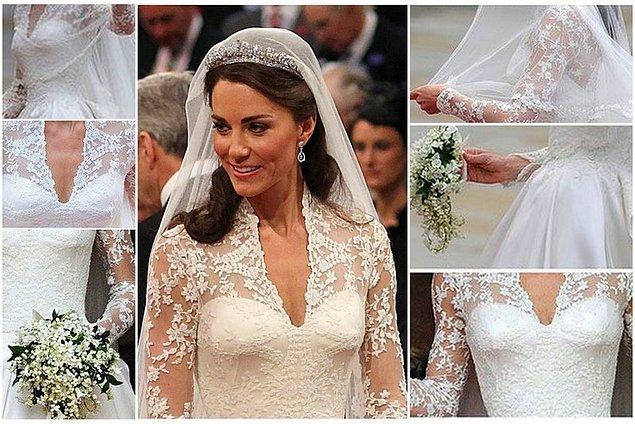 Ve son olarak da muhteşem Kraliyet Düğünü'nde giydiği muhteşem Kraliyet Gelinliği !!
