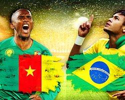 Brezilya-Kamerun Maçının İlk 11'leri Belli Oldu