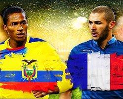 Ekvador - Fransa Maçının Kadroları Belli Oldu