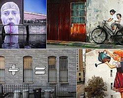 Çevresindeki objelerle etkileşim içinde olan 28 yaratıcı sokak sanatı örneği