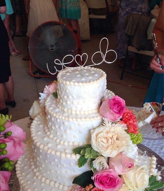 13. Düğün pastanızda.