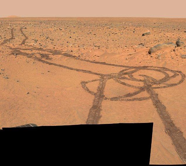 18. Ve hatta Mars'ta.