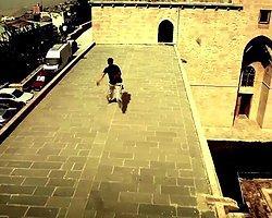 Mardin'de uçan adam