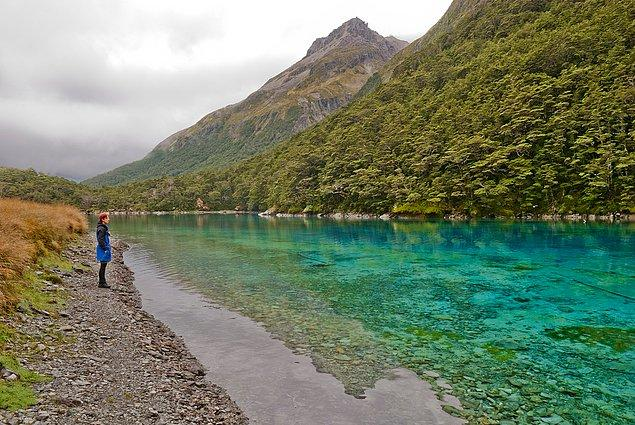 6. Blue Lake, Yeni Zelanda
