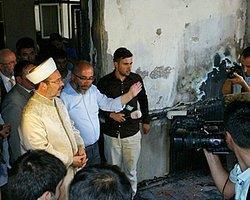 Yakılan Camiyi Ziyaret Eden Mehmet Görmez Sert Konuştu