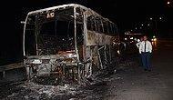 Yolcu Otobüsünde Yangın
