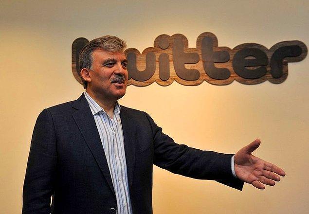 6. Abdullah Gül 4.6 milyon takipçisiyle raporda 6. sırada yer aldı