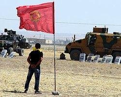 Sınıra PKK Flaması Astılar