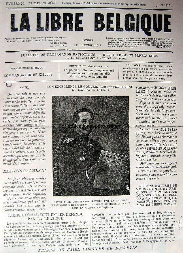 17. Libre Belgique gazetesi, Belçika