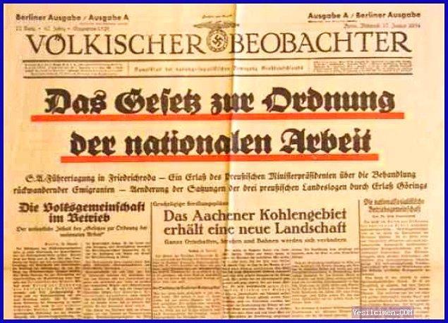 20. Alman Volkischer Beobachter Gazetesi