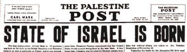 39. Palestine Post, İsrail