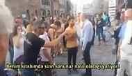 İsrail'e destek yürüyüşünü dağıtan TÜRK !!