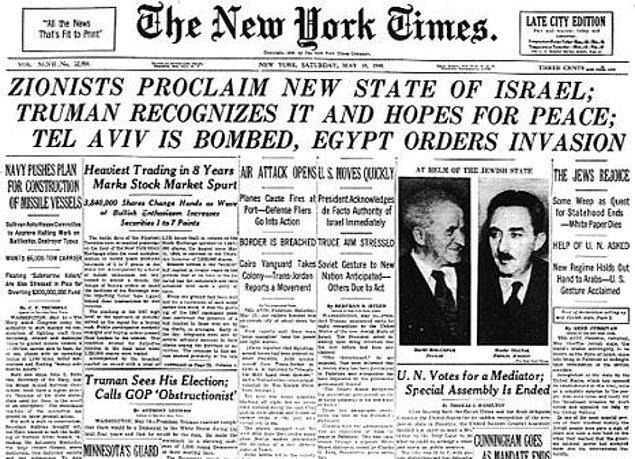 7. İsrail Devletinin Kuruluşu, El Nakba ve Arap İsrail Savaşı