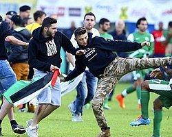 Olay Görüntüleri! Hazırlık Maçında Filistin Kavgası