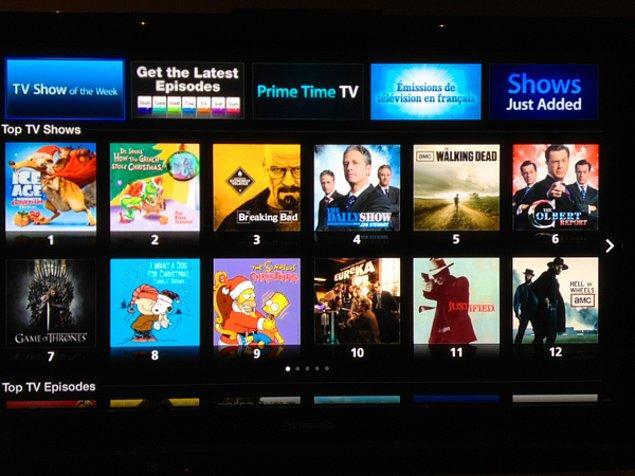 4. İzlemek istediğiniz TV Dizileri listesi.