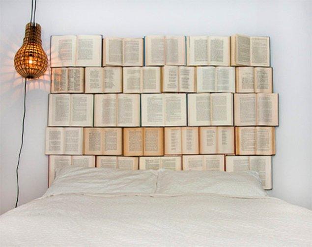 8. Uyurken her yanım kitap olsun diyenlere