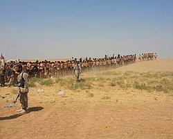 IŞİD 200 Askerin Üniformasını Çıkarıp Kurşuna Dizdi