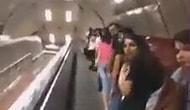 Metroda deprem oluyor şakası