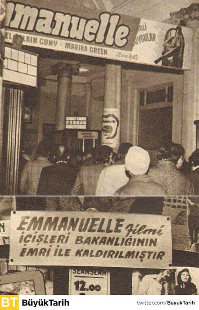 17. Gösterime girdikten bir yıl sonra yasaklanan Emanuelle.
