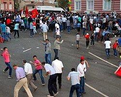 Diyarbakır'daki IŞİD Protestosunda Olaylar Çıktı