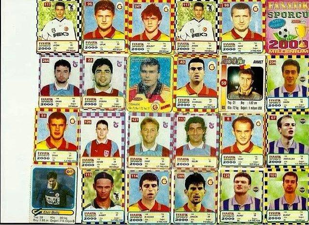 Futbolcu kartları..