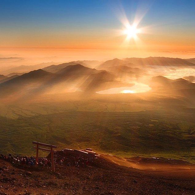36. Yoshida Trail, Fuji Dağı, Japonya
