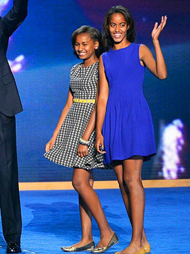 2. Sasha Obama, 13 yaşında ve Malia Obama, 16 yaşında - Başkan Obama'nın kızları
