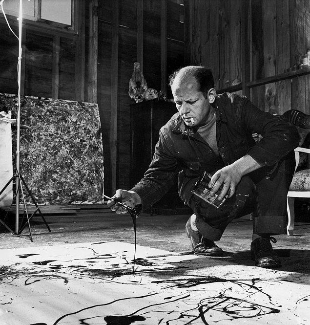 10. Jackson Pollock ile boyalar yoluyla sohbet etmiştir!