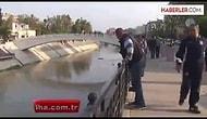 Kanala Atlayan Suriyeliyi Önce Tokatladı Sonra Kurtardı