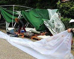 Validebağ'da Çadırlar Kaldırıldı
