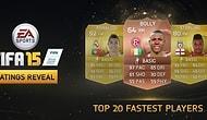 İşte FIFA 15'in En Hızlı 20 Futbolcusu