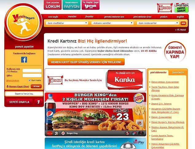 1. Yemeklerin Sepeti - yemeksepeti.com