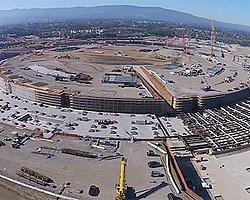 Apple'ın Uzay Gemisi Şeklindeki Yeni Kampüsü Havadan Görüntülendi