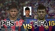 FIFA 15 vs PES 2015 Barcelona Yüz Karşılaştırması