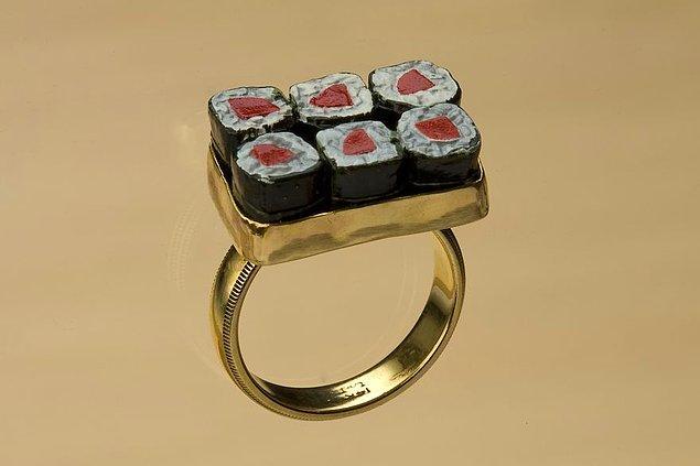 45. Sushi tasarımlı yüzük