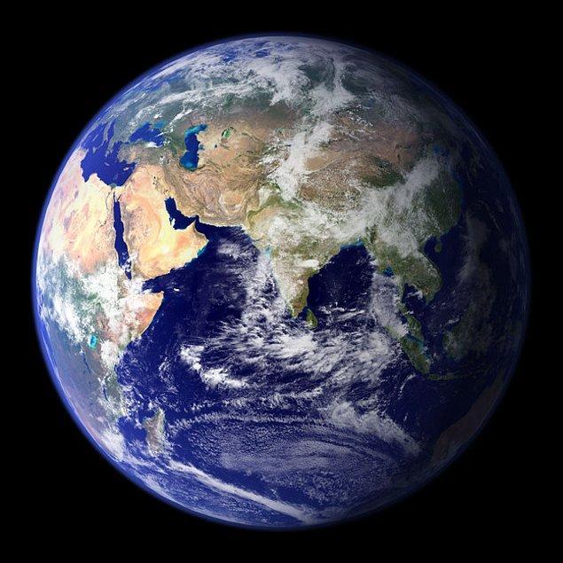 1. Burası yaşadığımız yer, Dünya!