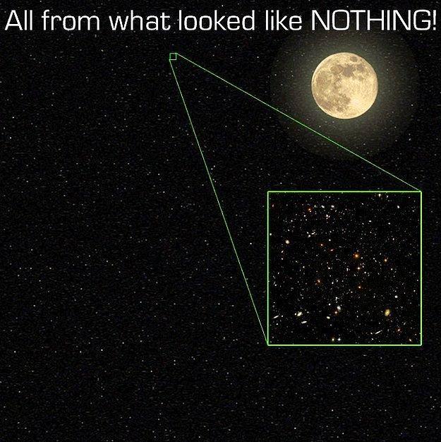 Это всего лишь маленькая часть Вселенной, которую мы видим в ночном небе.